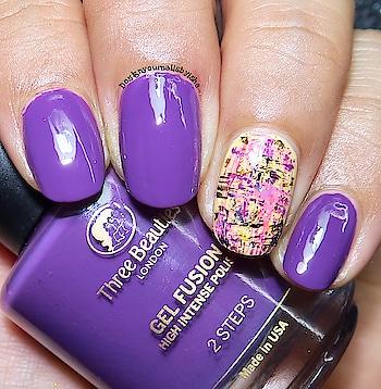 Accent Nail Art😍😍😍   #designyournailsbyisha #ishanailart #nails #nailart #nailartdesign #naildesign #purplenails #drybrushnailart #accentnailart #nailsofig #nailsoolala #fashionnails #nailartaccesories #nailartwow #nailpromote #nailsbyme #nailartaddict #gelfinishnails @design_your_nails_by_isha💖