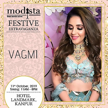Complete your traditional attire with richly designed jewellery by Vagmi by RA Jewellers.  Visit and shop at Modista, Hotel Landmark, Kanpur on 11th October. . . . #Modista #Modistadxb #lifestyle #exhibitions #premium #India #fashion #couture #homedecor #accessories #style #luxury #grandeur #fashionistas #underoneroof #savethedate #modistarocks #bollywood #celebritydesigners #Kanpurfashion #kanpurdesigners #kanpurexhibition