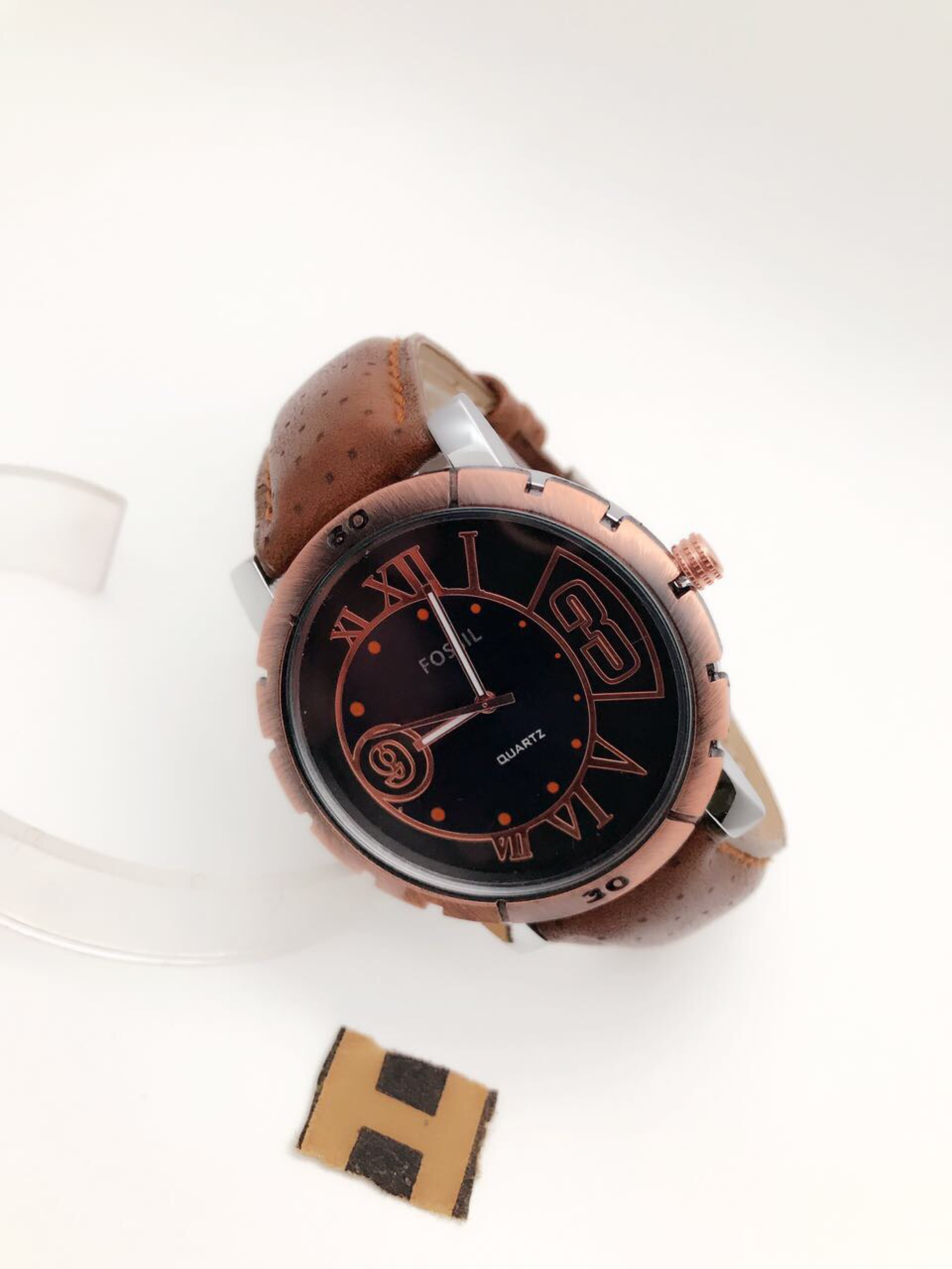 Sk Mens leather belt watch  Price 450/-+ shipping
