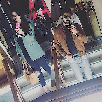 Sisters are almost a reflection of their brothers..! Except that they are way more mature..! 😅😋 #brothersistergoals #brothesislove #thisbond💞 #bhaikjaan #main #iphonelove #mirrorwaliselfie😉 😘