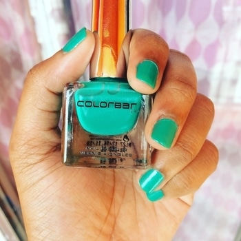 "Product Review- Product: Colorbar Luxe Nail Lacquer (Created with Love - shade : magical green) Review- Product claims to be - ""Our nail lacquer is non-yellowing, non-carcinogenic, doesn't transfer onto nail bed & is cruelty-free"". I bow down to each & all claims made! The product retails for ₹250 for 12ml of product! The counter boy assured the glow would be for over a week & trust me it's the same! Find its a little over budget but a definite try since the colorful Indian food fails to re-paint the nails! Must try with wide variety of colors! #roposoblogger #instablogger #roposo #soroposo #instapicture #kolkatablogger #kolkatabeautyblogger #kolkatafashionblogger #productreview #productoftheday #skincare #makeup #magicalgreen #nailpolish #colorbar #colorbarindia #luxenailpolish  #productreviews"