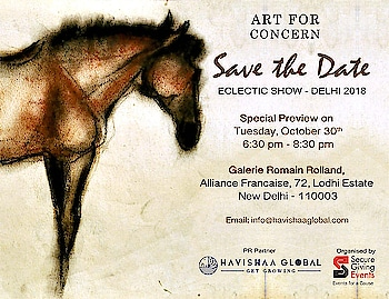 OCTOBER 30th 2018 SAVE THE DATE!   WE ARE BACK WITH   THE ECLETIC SHOW with ART FOR CONCERN at Alliance Francaise New Delhi   The Delhi Eclectic Show presents an ode to the late Ram Kumar, master artist and writer and a patron of Art for Concern through its journey of twenty years.  A seminal figure in the modernist art movement in India, Kumar's artistic trajectory has come to mark a significant point of departure for other artists in the decades following the genesis of his practice, his oeuvre lending significantly to the stylictic movements and individual practices of many after him. An artist who had lent with his characteristic generosity to the efforts of Art For Concern from the start of its nascent journey, his departure would be felt by many in the art fraternity.  The Delhi Eclectic Show presents a curated section of artworks drawing from the iconic journey of Ram Kumar. The intention of the endeavour is to weave in his aura to the format of Art for Concern's Eclectic Show.  Other artoworks by masters such as MF Hussain, Manu Parikh, SH Raza, Anjolie Ela Menon, SN Suza, Lalu Prasad Shaw among several others  PR Partner HAVISHAA GLOBAL @tanveey   Contact us for more information info@havishaaglobal.com    #art #artforconcern #artistsoninstagram #artist #arts #luxury #luxurylifestyle #event #events #charity #show #artwork #delhi #india #havishaaglobal