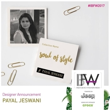 Payal Jeswani personally believes that style can never be achieved without comfort.  Her work goes a long way from Indo-Western outfits to Indian, Bridal, Western and other customized outfits.  If you're looking for something fresh and unique, watch out for Payal Jeswani's collection at Season 4 of India Beach Fashion Week.  #IBFW2017 #FashionFestival #DesignerDiaries #SummerSurprise #SummerSpring #Runway #FashionDesigner #Goa #Luxury #PayalJeswani #FashionWeek