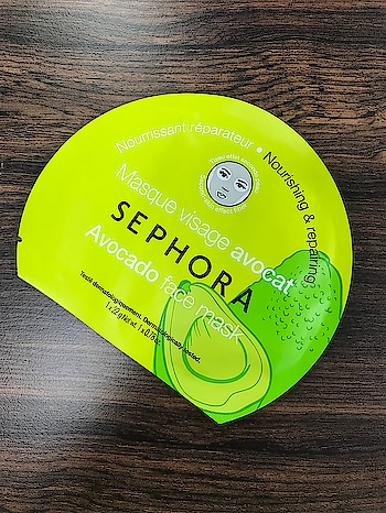 @sephora | Avocado Face Mask | Nourishing & Repairing | Dermatologically tested | - Apply the mask onto a cleansed, dried face, after 15 min, remove the mask & gently massage, allowing the excess product to penetrate the skin. No need to rinse. @sephora_india -#sephora #sephoramask #avocadofacemask #nourishing #repairing #masque #skincare #skincareroutine #mua #muaworldwide #muaindia #makeup #makeupskincare #makeupartist #makeupartistworldwide #makeupartistry #makeupbyzayna 👩🎨