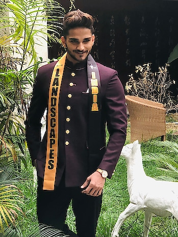 Winning or loosing is the secondary part but going and Representing your Country is the First..!🇮🇳 Give your best , Do your best & be the best..!🙌🏻 Rest leave it to God coz he knows the best for you..!🤞🏻 During the formal wear shoot:- Designed by:- @seemadmehta  #rubarugroup #rubarumisterindia2018 #misterlandscapesinternational #fashion #happiness #bethebest #believeinyourself #hustle #goals #success #dreambig #love