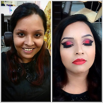 #makeuplove #makeupartistindia #makeupartistworlwide #glittereyes #makeuptutorial #redglitter #redlipstick #gloss #maccosmeticsindia #krylonbase #makeuprevolution