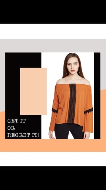 Presenting you an eclectic mix of glamour and a brand new off shoulder trend in this Voguish Mustard Off Shoulder Top.This fashion-led pieces is tailored in soft rayon crepe fabric and stylized with black lace.  Shop Link in Bio  #shoponline #fashion #attitude #style #trend #look #luxury #instagood #aboutalook #ootd #outfitoftheday #lotd #lookoftheday #photooftheday #fashionista #fashionable #IKnowAW2017