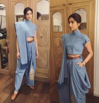 Saree hack with Sonam Kapoor  #roposotalenthunt #fashionblogger #fashionbloggerstyle #sonamstyle #delhiblogger