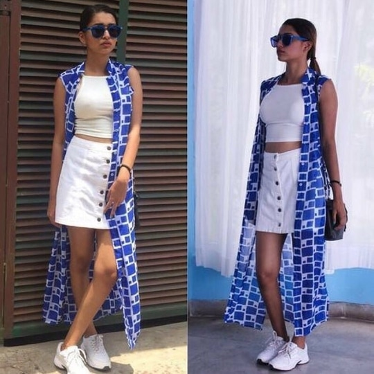 "Sundown"" long cape  Wthsapp-9986814448 #shop #shoponline #fashion #clothing #ootd #potd #trends #casual #prints #colors #newarrivals #indowestern #handmade #cod #mumbai #shopping #instagood #fashionblogger #love #cape #longcape #blue"