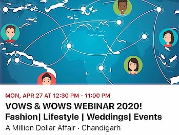 Vows & Wows Webinar 2020  Fashion | Lifestyle | Weddings | Events Community Connect  Navigating covid 19    #fightagainstcorona #together #we #stand #united #motivated #innovations #digital #upgradations  #readytorock #again #revolutionist #movement  #webinar #fashion #lifestyle #weddings #events #vowsandwows #weddingplanner  #exhibitionist #amilliondollaraffair #covid_19 #nehaamitsingla