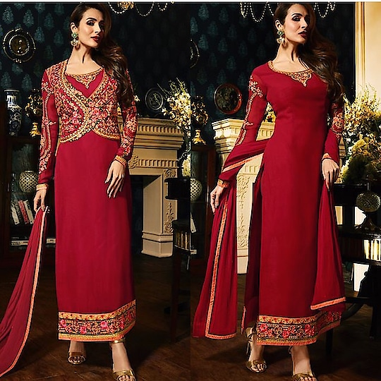 Malaika Arora Cherry Red Churidar Kameez  Product code - FCSS1352 Available at www.fashionclozet.com  Watsapp - +91 9930777376 Email -  info@fashionclozet.com Or DM for enquiries. #indianwear #indianfashion #indianwedding #instagram #adorable #beautiful #bollywood #makeup #mumbai #indianstyle #palazzo #punjabisuits #indowestern #bridalsarees #palazzopants #designerwear #saree #punjabiweddings  ##palazzoskirt #blogger #fashionblogger #weddingphotography #vancouverwedding #weddingphotographer #indianweddingbuzz #bridallehengas  #bridesmaids  #saree #sari
