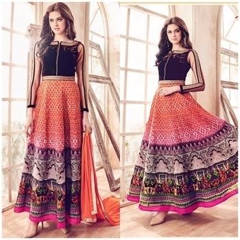 Orange Bhagalpuri Silk Anarkali Suit Product code - FCSS641 Available at www.fashionclozet.com  Watsapp - +91 9930777376 Email -  info@fashionclozet.com Or DM for enquiries. #indianwear #indianfashion #indianwedding #instagram #adorable #beautiful #bollywood #makeup #mumbai #indianstyle #desi #punjabisuits #indowestern #bridalsarees #designersaree #designerwear #saree #punjabiweddings  ##desibeautyblog #blogger #fashionblogger #weddingphotography #vancouverwedding #weddingphotographer #indianweddingbuzz #bridallehengas  #bridesmaids  #saree #sari
