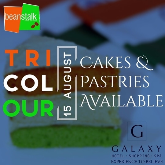 Exclusively for Independence Day: Special Tri-color cakes and pastries from the Beanstalk counter. ❤️  . . . #galaxyhotelandspa #independenceday #specialdeals #tricolor #cakes #pastries #Festivity #delicious #beanstalk