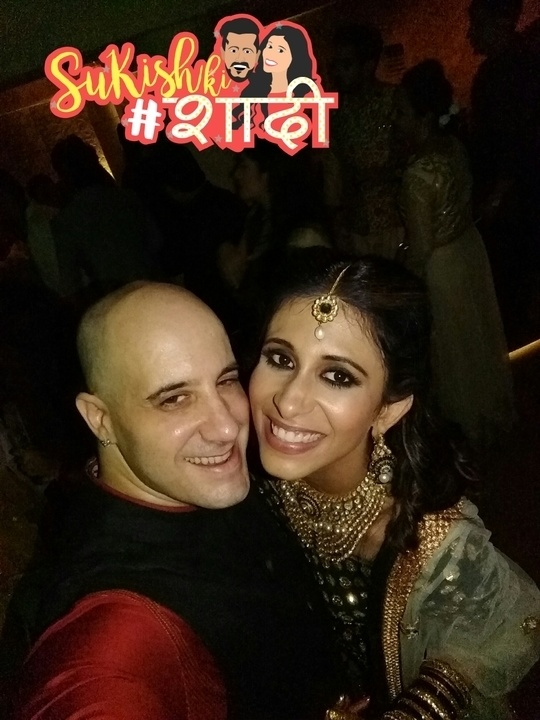 All the action from the #Wedding! #kishwermerchant looking absolutely lovely 😀 #sukishkishaadi #SuKishKiShaadi