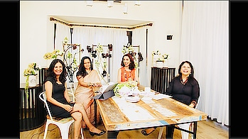 My lovely ladies at the @Sipping.Thoughts Sets.          #Watchthisspace for interesting content! Follow us @sipping.thoughts to hear us women with a vouce and opinion! :) . . . Bts #behindthescenes #shooting #shootday #host #hosts #talkshow #chatshow #sippingthoughts #tinawaliaIC #imageconsultant #imagecoach #shagunfarms #candidmoments #webshowhosts #laughter #funday #readytoroll😊