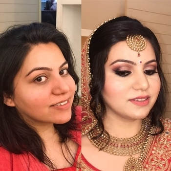 My pretty bride for her D - Day.  Makeup by me. Gave her a natural pink & deep mauve themed makeup.  💖💖 #bridal #bridalmakeup #bridalmakeupartist #makeupartistindia #makeupartistdelhi #makeupartistsworldwide #weddingmakeupartist #weddingmakeup #indianbride #indianbridalmakeup #indianbridalmakeupartist
