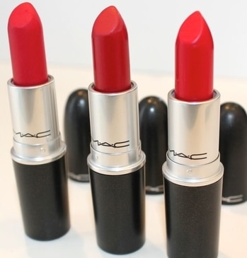 The 3 best Reds of MAC  RubbyWoo , Russian Red, MAC Red #maccosmetics #maclipstick #redlipcolor