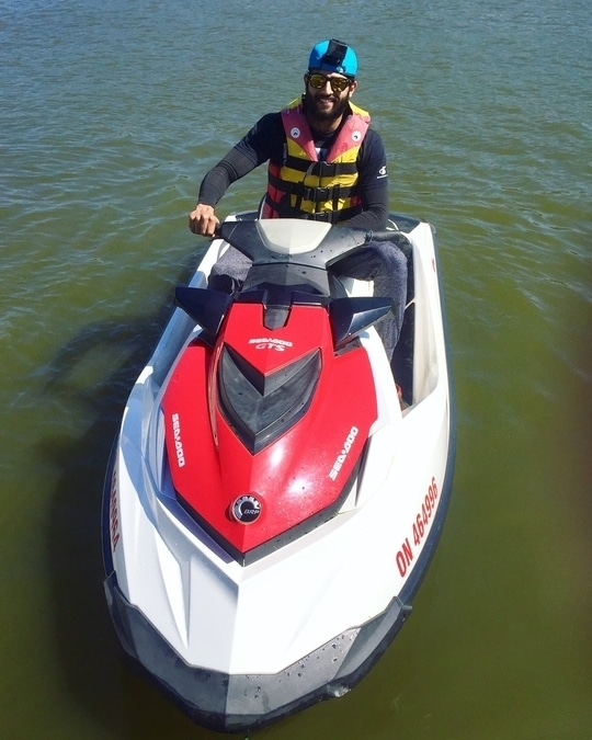 Have this baby for an hour 😈 have the go pro fixed and let's see what videos I get today  and much needed uv protected arm bands #armbands   #adventure #rahulnair #jetski #goprohero5 #mrindia