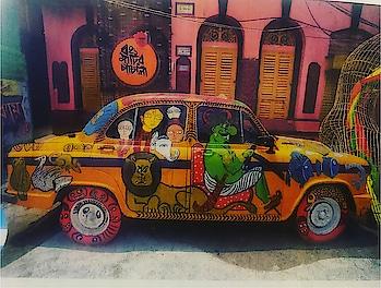 Sooooo love this painted car ..... soooo unique n soooo creative.... soooo fascinating... sooooo original... soooo rare.... soooo exclusive.... I want I want   #car #cars #paintedcar #paintedcars #sandipsoparrkar #indiafineartscouncil #usa #edison #newjersey #carlifestyle #life #lifestyle #colours #colourful #paint #riotofcolours #unique #creative #exclusive #different #rarecars #facinating #love #loveit #wantit #iwantit