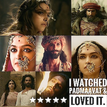 Yes i saw Padmavati, or the now called 'Padmaavat' tonight & honestly, i love it.  Despite of all the negative publicity, hatred & backlashes received by the film, it did manage to be a great movie for your hard earned money!  SLB not only managed to depict the greatness of Rajput values, but also the monstrous nature of Alauddin Khilji.  Although, he isn't quite successful in showcasing the romantic chemistry between Maha Rawal Singh and Raani Padmavati & this is something which we all were excited about.  Shahid Kapoor looks stunning in the role, but i did feel that Ranveer's Khilji outshines it.  Deepika is truly a queen when it comes to expressions.  Nobody could have given justice to Raani Padmavati's role other than her. Her dialogues are less yet powerful. She finally looks a bit different sporting that unibrow.  This movie does go on slower pace here and there, but whenever Ranveer is on screen, you can't keep your eyes off him. Some scenes will give you a sense of Khilji's monstrous behaviour, such as the one in which he pours the entire 'ittar' on a slave's body and rubs her against him to apply it on him or maybe the one in which he makes out with a slave on his wedding day. This movie will make you laugh at places where Jim Sarbh is pleasing the Sultan by his idiotic tricks, but does outshine a lot of other performances.  The most talked about scene, 'Jauhar' scene is the one which will surely give you goosebumps. It is something which makes you wanna believe the 'light over darkness' quotes which we have been hearing all our lives.  Story does have a few continuity issues and fails to connect with the audience, which SLB is famous for.  But all this can be neglected as the entire film oozes out beauty. Beautiful shots, epic songs, perfect costumes & above all, great actors, this movie is truly a must watch.  Go out and see for yourself.  ⭐️ ⭐️ ⭐️ ⭐️ ⭐️  -Ishaan Singh  #ReviewReels #byishaansingh