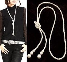 Simple yet aristocratic Long pearl  neckpiece   #neckpiece#jewellery#soroposo#roposotalks#photooftheday#white#pearl