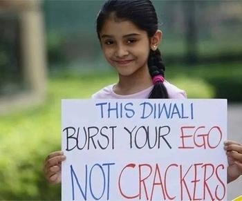 Celebrate Diwali with love. Spread love❤️ . . . . . #diwalicelebrations #nocrackerdiwali #diwali2017 #diwalifeels #celebration