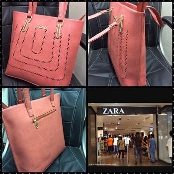 """Zara tote  Wid inner cash pocket  N back zipper pocket  In superior leather  Size. 16"""".14""""  Price: 999/- INR #whatsapp_9967120788  #limitededition  #bags👛👜 #bagsundermyeyes #mumbai #shoppingonline  #mumbai #kolkata #delhi #jaipur #pune #bangalore #onlineshoptrusted #onlinebusiness #onlineshopping #instastoreindia #instashopper #instawatches #instafashion"""