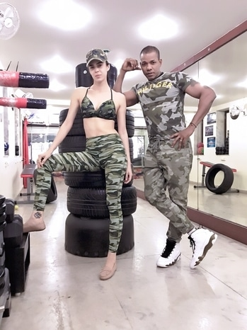 #Couple In #Business #Partner In #Fitness #hollywood #bollywood #Model #SuchetaSharmaJames #Wife #BestBody #Love #StudTraining #Army Against Fad Diets, Starvation, Unnatural Substances #FitnessTrainer #MFTHarrisonJames 👊