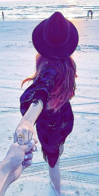 She Ran Away In Her Sleep And Dreamed Of Paradise ... 🌊 😍😍 : #paradise #beach #sealbeach #love #beachphotography #sea #beauty #sunset #seaside #beautiful #evening #beachsunset #beachlife #beachstyle #waves #goa #travelphotography #travel #travelgram #luxurylifestyle #travelandleisure #naturelover #travelblogger #nehamalik #model #actor #blogger