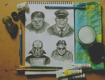 Grayscale Color study #sketching #sketchbook #artistlife #illustration #illustrator #sundayart  #comics  #grayscale #artstudy #characterdesign #portrait #colors #aishwaaryanant #freelancer