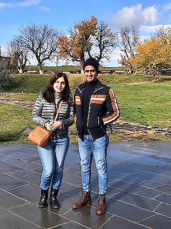 With our Tour Guide Nelly - About facts of Garni Temple !! #vacation #trip #holiday #throwback #garni #temple #geghard #monestary #jacket #zara #boots #pullandbear #guide #beautiful #pose #skyblue #winter #travelphotography #travel #traveller #fashion #mensfashion #yerevan #armenia #rome #history #dubai #mumbai #indian #sajansinghrawat
