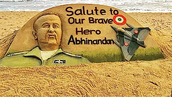 Hats off to our brave hero's of our armed forces. Thank you all for your service to the nation. It's a debt we can never repay. Wing commander #abhinandan we salute you for your bravery and dedication towards our nation 🙏🏻