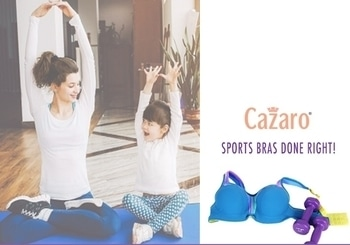 Jayashree Gupta says that wearing the right bra can prevent your bust line from the damage caused due to strenuous fitness activities and sports.   These super sports bras at #Cazaro are a must try... call us or visit the store!   #LoveSports #Stayfit #WorkOut #SportsBra #SportsGoods #GymGear #WorkOut #PerfectFits #PlusSizes #Lingerie #LoveCazaro
