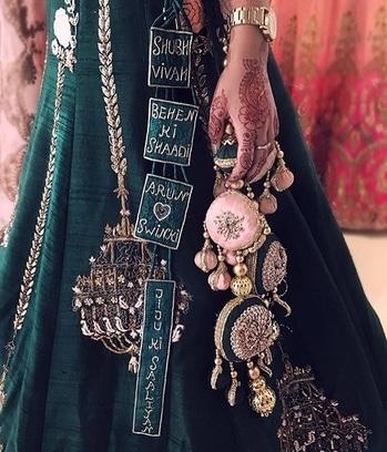 Some major #tassels inspiration for one's wedding lehenga! :) #lehenga #tassellove #tasseltrend #bridetobe  #wedding