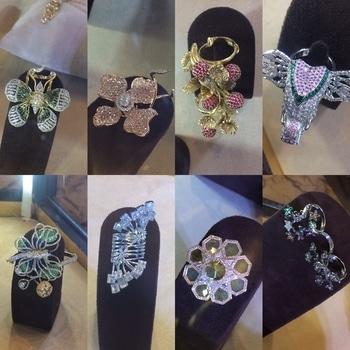 These statement rings are so pretty. #jewellery #statementjewellery #statementrings #accessorylove #finejewellery #designerjewellery #rjia #rjia2017 #tjdxrjia #mumbaiblogger