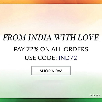 Happy 72nd Independence Day to all! Pay 72% on all orders. Use Code: IND72 Shop here: https://www.indiancultr.com/# #happyindependenceday #indepedenceday2018 #india #fashion #luxury #indian #culture #shop #online #buy #fashionpost #limitedtime #designer #proudindian #sale #discount #suits #ethnic #traditional #contemporary #accessories #apparel #footwear