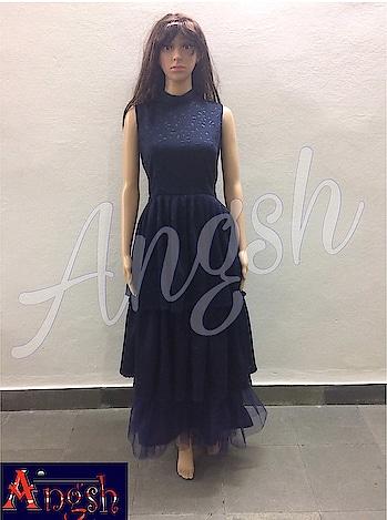#gown #lycra #net #frills #western #cutwork #stylish #trending #angsh #jaipur #dedigner  Dm to order😊
