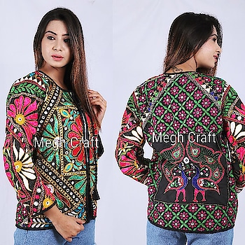 Wholesale kutch embroidery jacket.. Buy online www.craftnfashion.com  WhatsApp on +919375519381 Www.craftnfashion.com #kutchjackets #gujaratijacket #bohoshop #bohojacket #bohemianstyles #hippiejacket #kutchembroidery #handembroidered #handmade #custommade #kutchchania #madefromvintage #ibiza❤ #inspiration #banjarajackets #wholesalejackets #meghcraft #mirrorwork #gujaratistyle #exporter #banjarajackets #kutchjackets