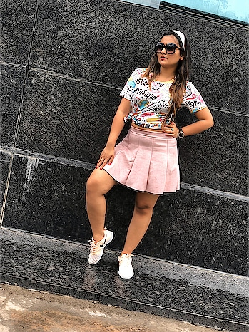 All over pink 👄 . Tattooed tee with pink skirt @sheinofficial & this kiddoo hairband @hm . #fabulous #hairband #fashionnova #fashionblogger #fashionable #fashionshoes #fashionnova #fashiondesigner #slayqueen #streetstyle #kiddo #kidshairstyles #tattooideas #gashion #coolchic #coollook #delhifashionblogger #bangalorefashionblogger #pune #roposoness #roposofashionblogger #roposo-rising-star-rapsong-roposo