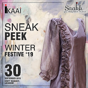 Sneak Peek at our new Winter Festive'19 , Sustainable Fashion which is ethically made in Varanasi + India. #sneakpeek #sustainablefashion #winterfestive2019 #hathkargha #madebyhandandlove #lucknowexhibition #evite #rememberthedate #makesure #dontforget #cardsparty #ilovesaakk #saakk #saakkbysakshi #saakkyourimaginationtailored #ikaai