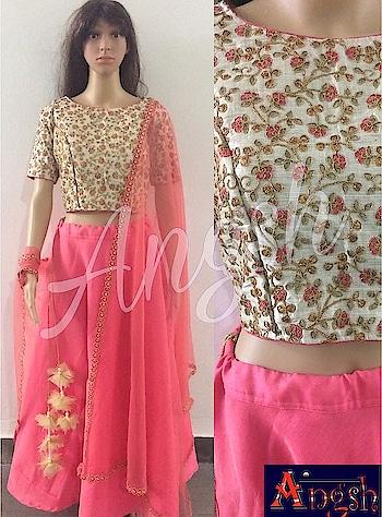 #skirt #umbrella #croptop #fullwork #boatneck #dupatta #trending #tassel #designer #angsh #jaipur #party #traditional #stylish  Dm to order😊