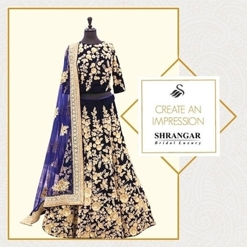 When looking good is not enough.                           Visit us at http://www.shrangar.com                         #shrangar #chandnichowk #bridalwear #delhi #shopnow #designer #potd #style #fashion #lehenga #wedding #ethinic #dress #ootd #styleblogger #fashionista #blue   #blogger #fashionblogger #bridal