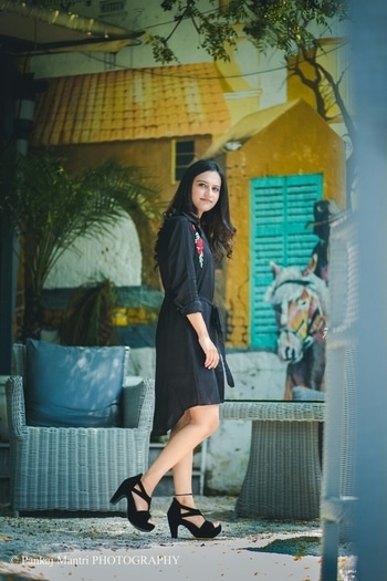 """New blog post is up on my blog.!! It's about """"Going all black in embroidered shirt dress"""".!! Hope you guys will like it. Link is in the bio.☺☺ .. 📷:-@pankajmantri .. #allshelove#allsheloveblog#blackembroidereddress#blackembroideredshirtdress#shirtdress#black#faballey#fashionbloggerofindia#delhiblogger#indianblogger#indiabloggersnetwork#instafashion#instastyle#instalove#whatiwore#love#keepliking#keepfollowingme#followme#follow"""