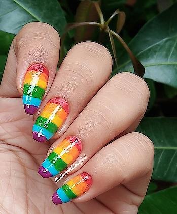 rainbow Nail art  #nail #nails #nailart #naildesign #naildesigns  #nailartlove #nailsonfleek #mani #pedi #nailsdid #naillove #nailpro #nailideas #nailartjunkie #naillife #notd #nailfashion #nailofig #nailsofig #nailartist #nailoftheday #nailpolish #nailpaint #rainbow