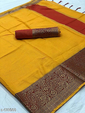 Price_1150 free shipping (cash on delivery mode)               *Eva Attractive Chanderi Cotton Sarees  Fabric: Saree - Chanderi Cotton, Blouse - Chanderi Cotton   Size: Saree Length - 5.5 Mtr, Blouse Length - 1 Mtr  Work: Border Work  Dispatch: 2 - 3 Day  Easy Returns Available In case Of Any Issue