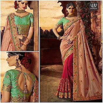 Buy Now @ https://goo.gl/dN3gLG  Fab Peach And Pink Color Designer Half N Half Saree  Fabric- Art slik  Product No 👉 VJV-WEDD15127  @ www.vjvfashions.com  #saree #sarees #indianwear #indianwedding #fashion #fashions #trends #cultures #india #instagood #weddingwear #designer #ethnics #clothes #glamorous #indian #beautifulsaree #beautiful #lehengasaree #lehenga #indiansaree #vjvfashions #pretty #celebrity #bridal #sari #style #stylish #bollywood #vjvfashions