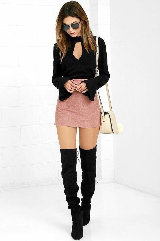miniskirt anf thighboots #miniskirt #thighboots #thigh #thin #otk #otkboots #boots #bootslove #roposo