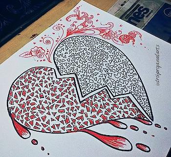 Pieces ; Healing! . . . .. .  #doodle #doodleart #doodleartist #doodlesofinstagram #mywork #artbyme #byme #doodlebyme #doodling #doodlelove #art #sketch #artoftheday #doodleoftheday #loveforart #lovefordoodle #micron #micronpen #abstractdesign #instaart #instadoodle #instapic  #nailartist #artist #doodler #blogger #nailart #heartdoodle #redheart