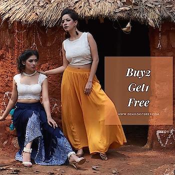 Buy2 Get1 Free on the entire Range only at www.demozastores.com  #b2g1 #b2g1free #onlinedeals #specialoffer #womensfashiom #womenssale #leggings #skirts #pants #palazzopants #kurti #kurta #croptop #indianshopping #eors #greatindiansale #onlinesale #ecomsales #bestoffer