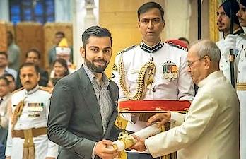 #honoured #award #padma_shri for #kingkohli @virat
